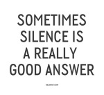 silence_good_anwer